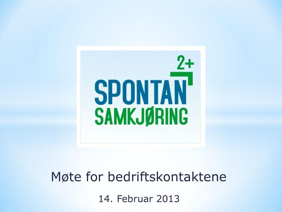 Møte for bedriftskontaktene 14. Februar 2013