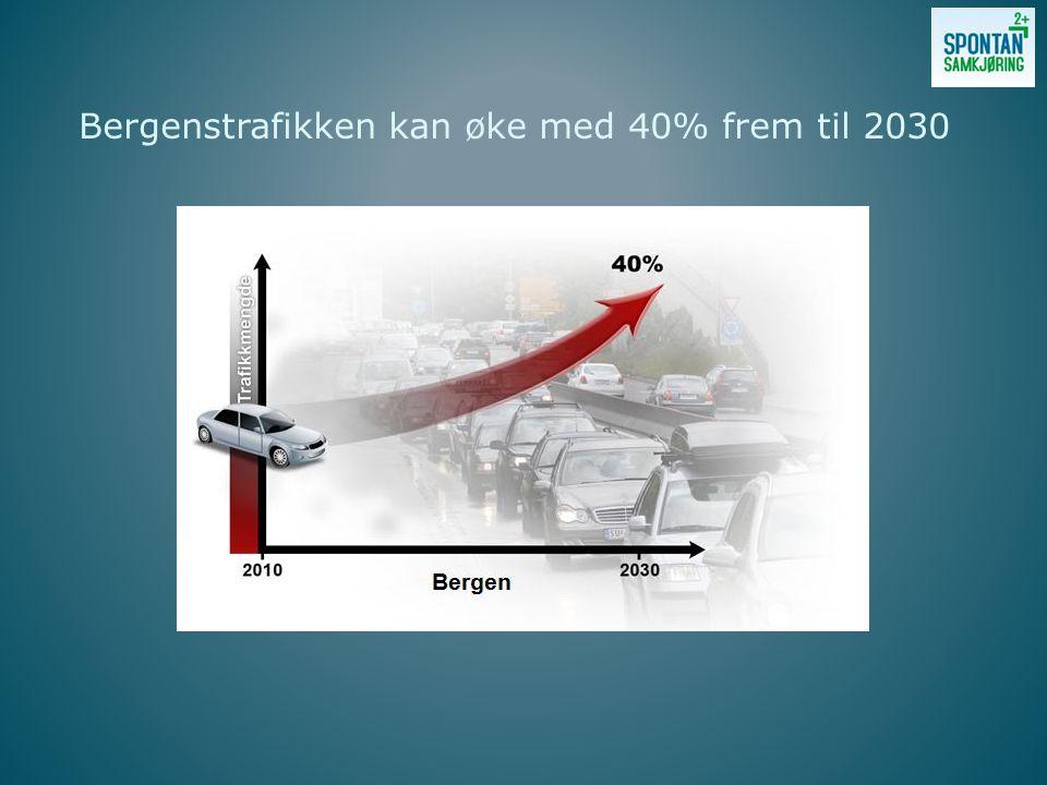Bergenstrafikken kan øke med 40% frem til 2030