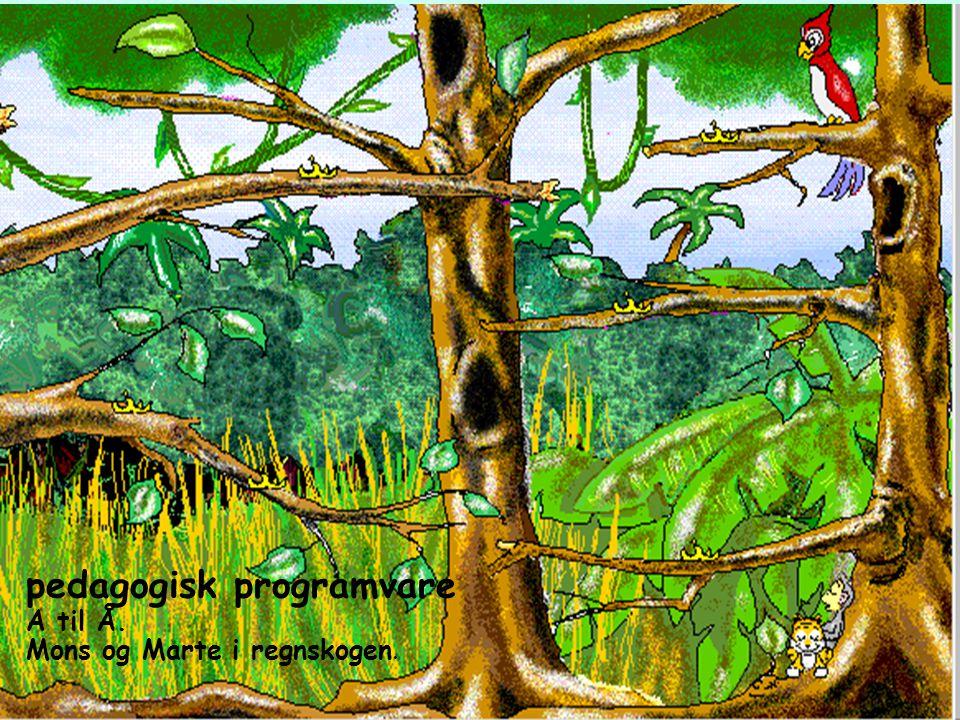 IKT og læring 2006-2007 pedagogisk programvare A til Å. Mons og Marte i regnskogen..