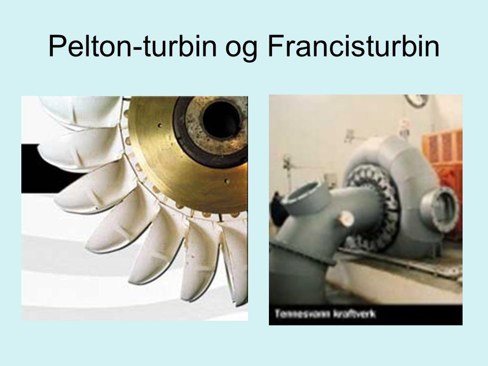 Pelton-turbin og Francisturbin