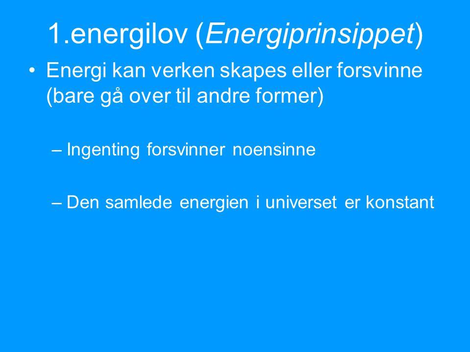 Hva er forskjellen på energi og kraft.