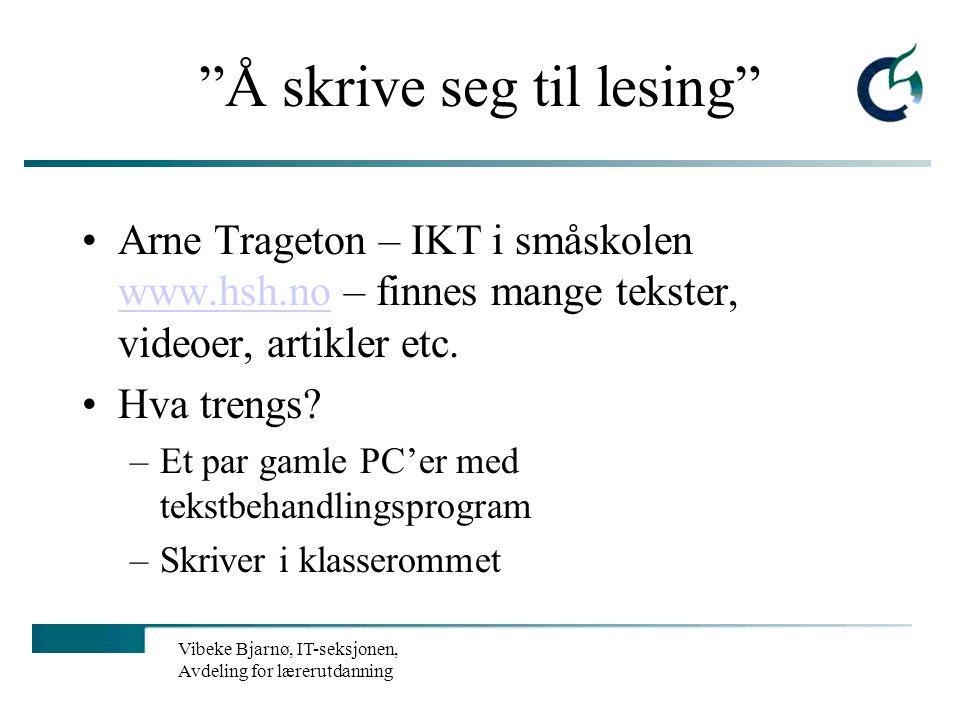 Vibeke Bjarnø, IT-seksjonen, Avdeling for lærerutdanning Hva er et pedagogisk programvare? Hva er et elektronisk læremiddel? Pedagogisk programvare er