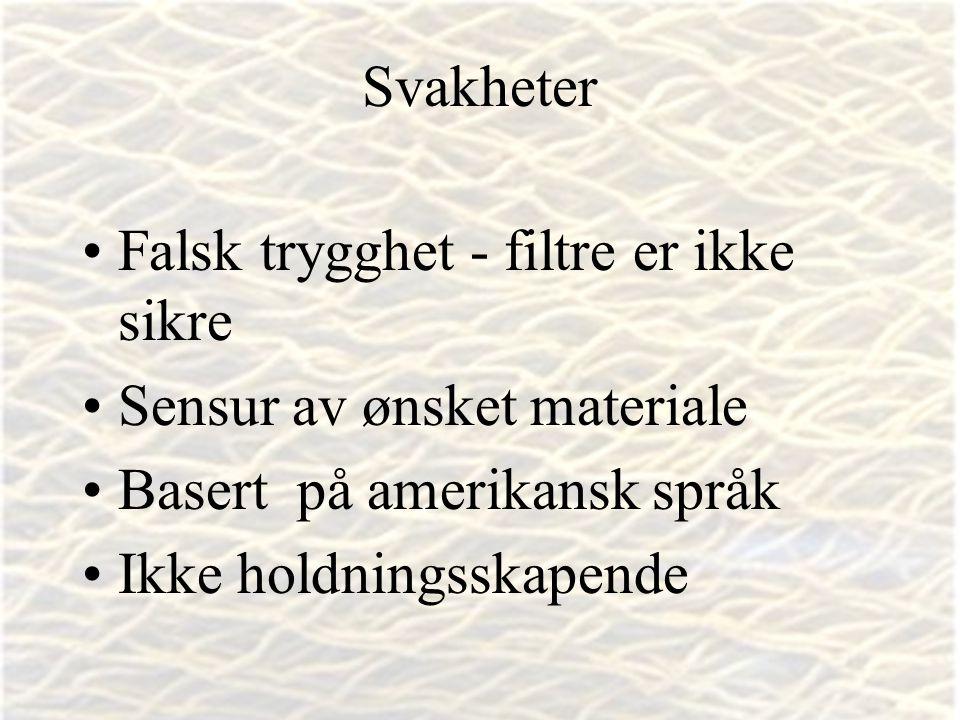 Vibeke Bjarnø, IT-seksjonen, Avdeling for lærerutdanning www.safesurf.com