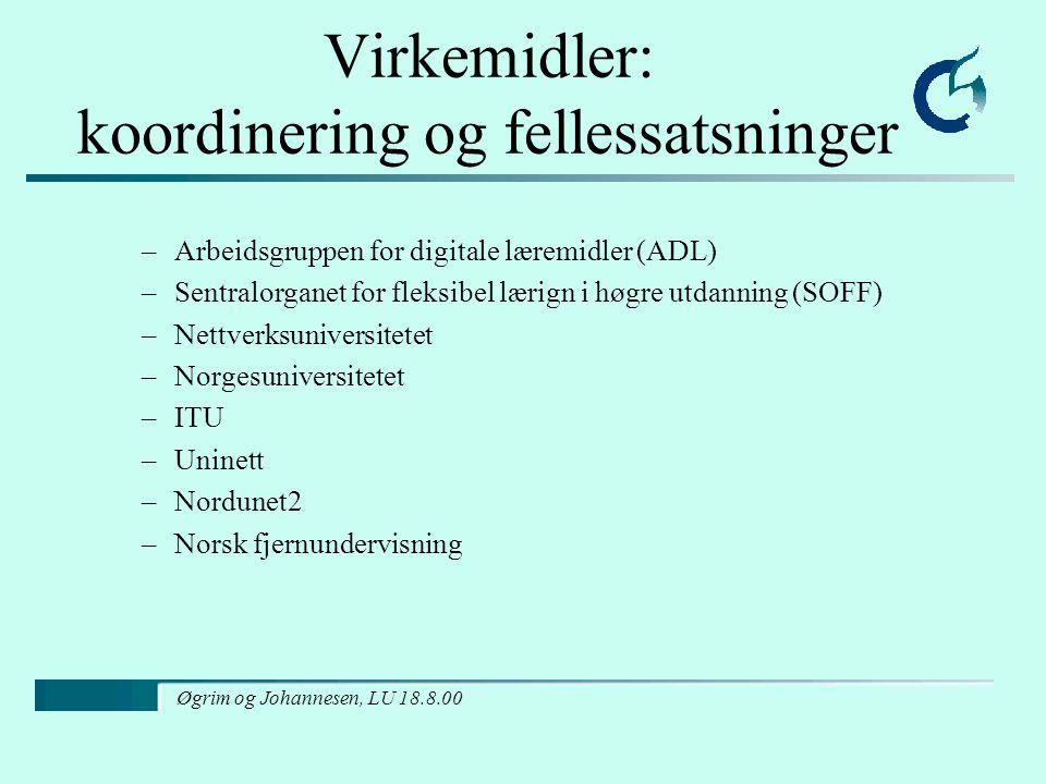 Øgrim og Johannesen, LU 18.8.00 Arkiv, biblioteker og museer www, mer kompendier og lignende bør publiseres på veven, BIBSYS