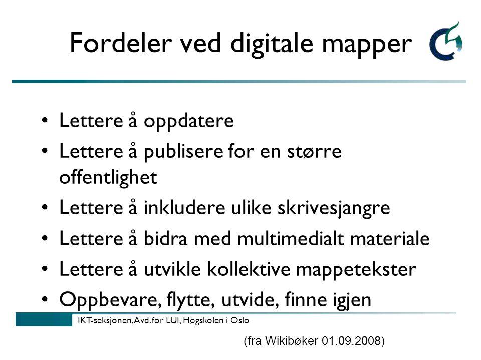 IKT-seksjonen, Avd.