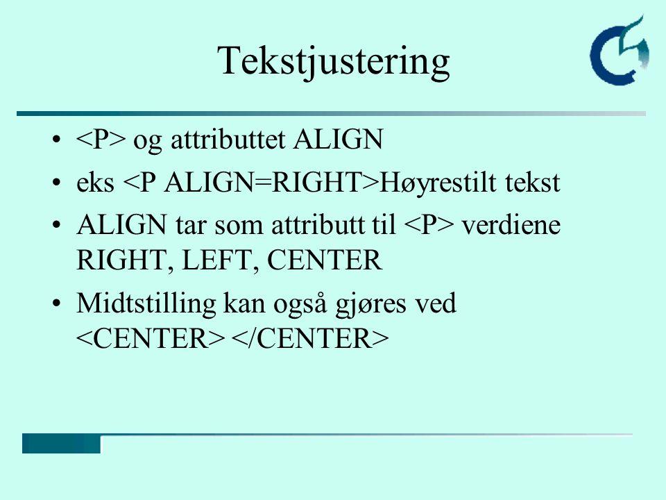 Lister Tre typer lister: –punktlister: punkt: –nummererte lister: punkt: –definisjonslister: punkt: eks.