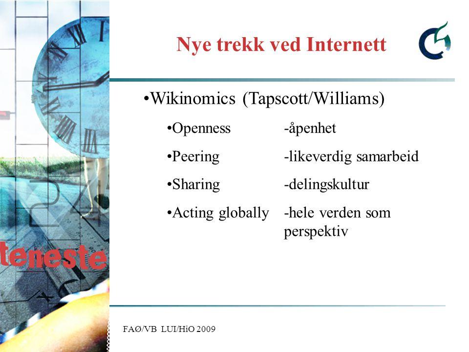 FAØ/VB LUI/HiO 2009 Er amatørenes inntog ødeleggende for kulturen.