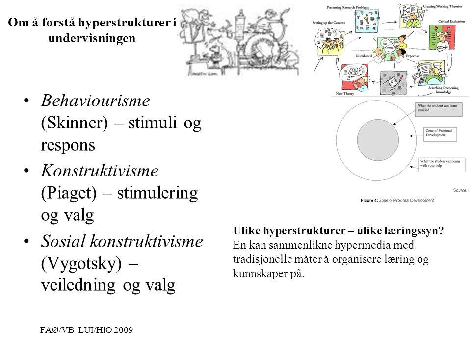 Vibeke Bjarnø, IKT-seksjonen, Avdeling for lærerutdanning og internasjonale studier Hypermedia - Typisk struktur