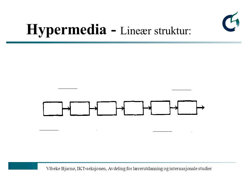 Vibeke Bjarnø, IKT-seksjonen, Avdeling for lærerutdanning og internasjonale studier Hypermedia - klassisk feedback: