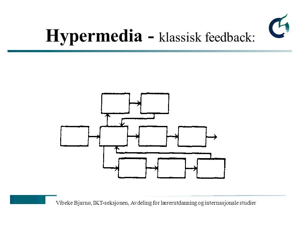 Vibeke Bjarnø, IKT-seksjonen, Avdeling for lærerutdanning og internasjonale studier Hypermedia - LCPP: