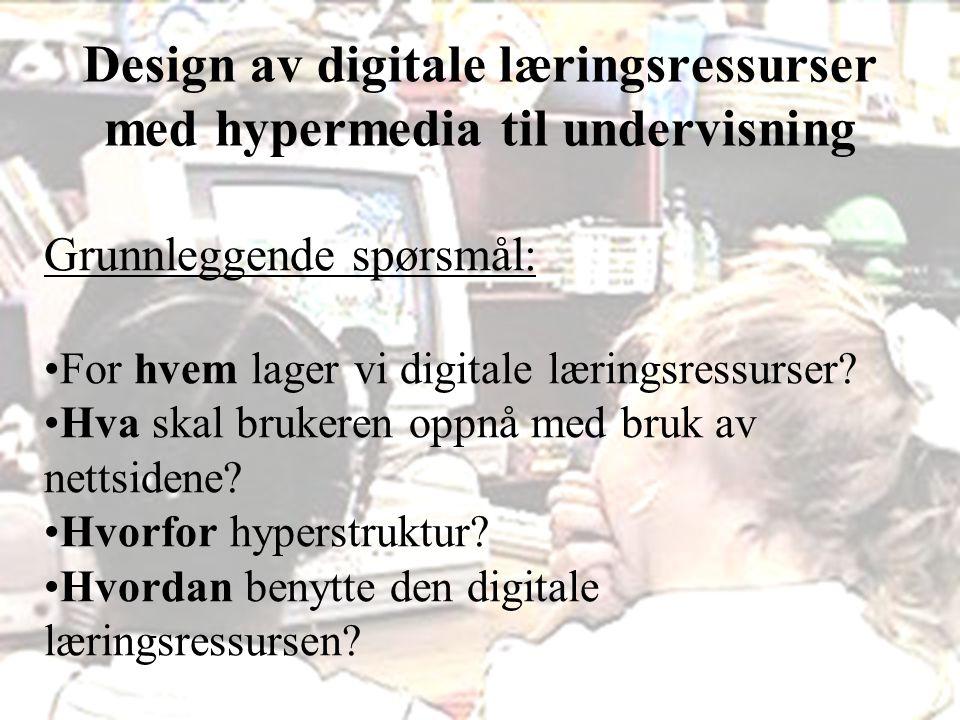 Vibeke Bjarnø, IKT-seksjonen, Avdeling for lærerutdanning og internasjonale studier Frihetsgrader i en hyperstruktur Hva veier tyngst – stor eller liten frihet.