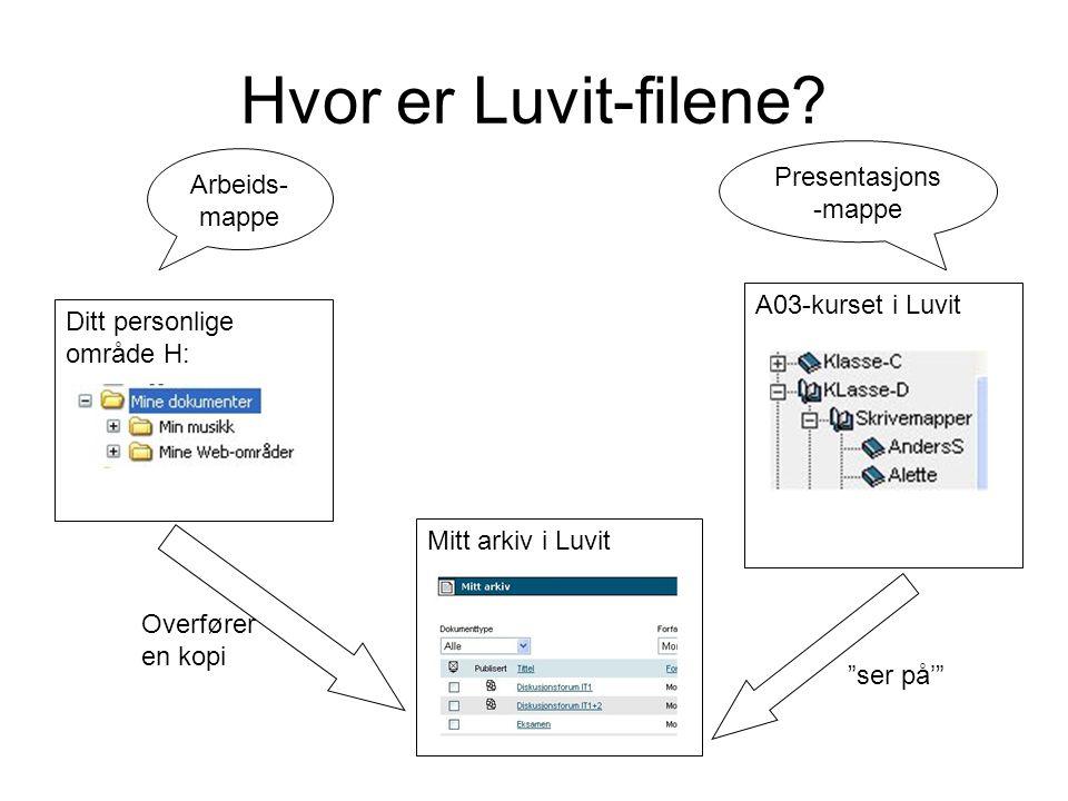 Hvor er Luvit-filene.