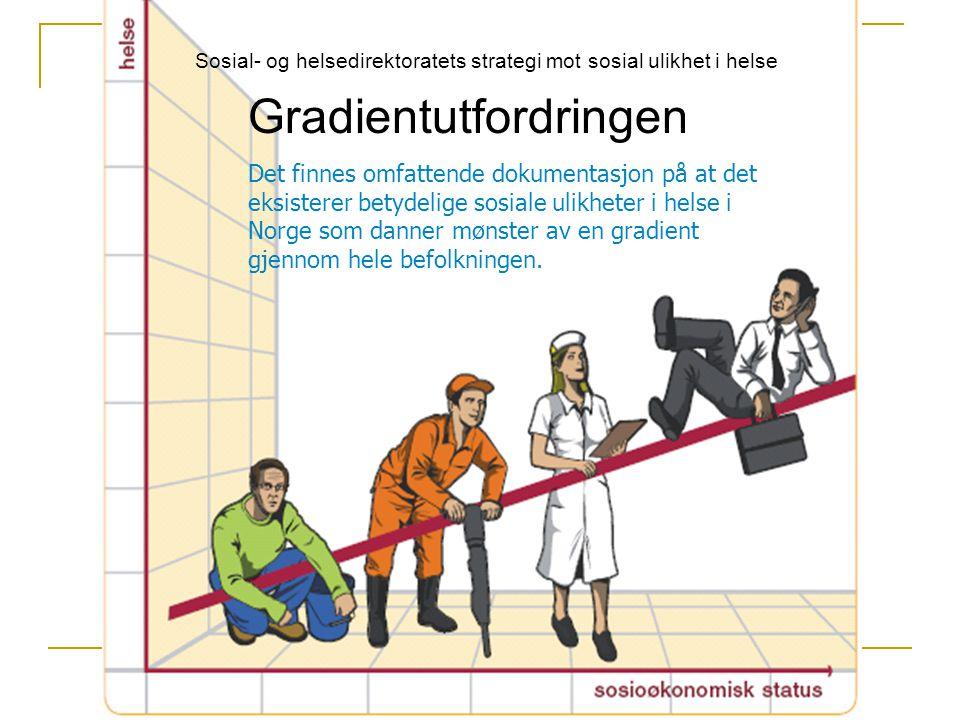 Sosial ulikhet i helse - Barn Norske barn er blant de friskeste i verden Kroniske tilstander som astma, allergiske sykdommer, psykiske lidelser og overvekt har erstattet tidligere tiders infeksjonssykdommer Barns helse viser klare sammenhenger med sosial ulikhet