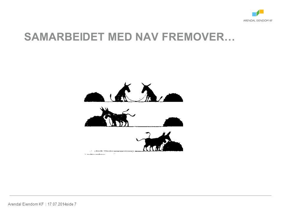 | 17.07.2014Arendal Eiendom KF| side 7 SAMARBEIDET MED NAV FREMOVER…