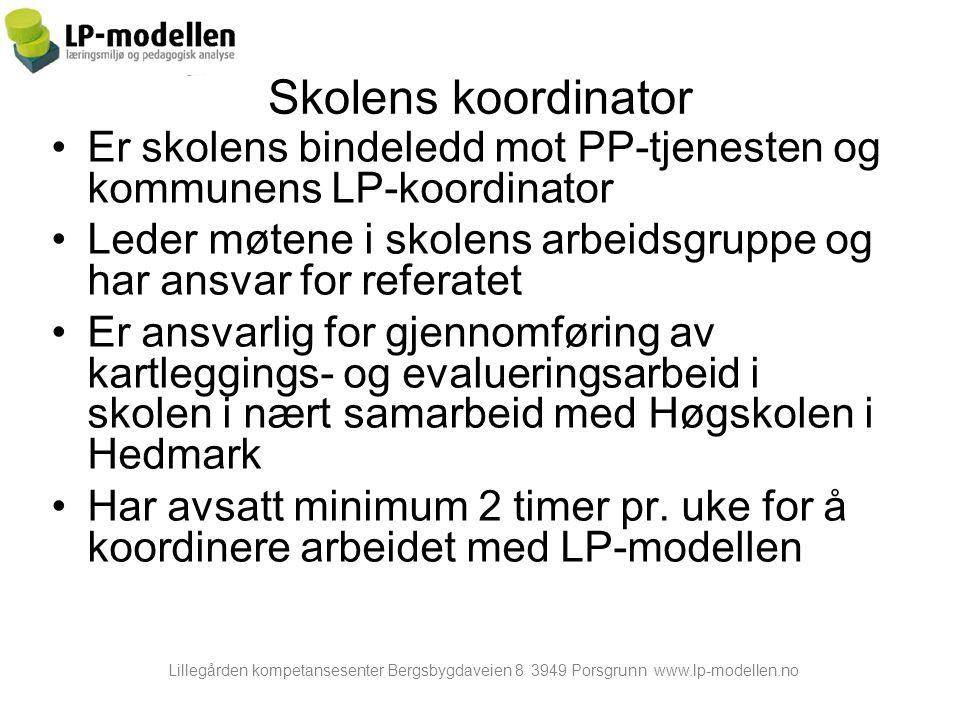 Lillegården kompetansesenter Bergsbygdaveien 8 3949 Porsgrunn www.lp-modellen.no www.lp-modellen.no