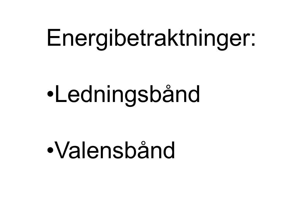Energibetraktninger: Ledningsbånd Valensbånd
