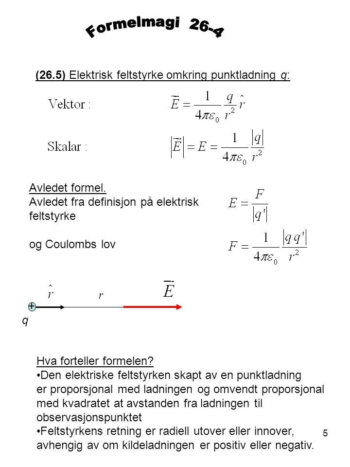 Elektriske feltstyrken