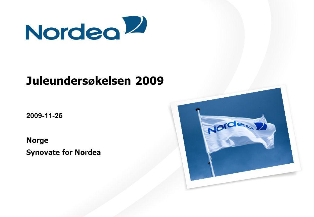 Juleunders ø kelsen 2009 2009-11-25 Norge Synovate for Nordea