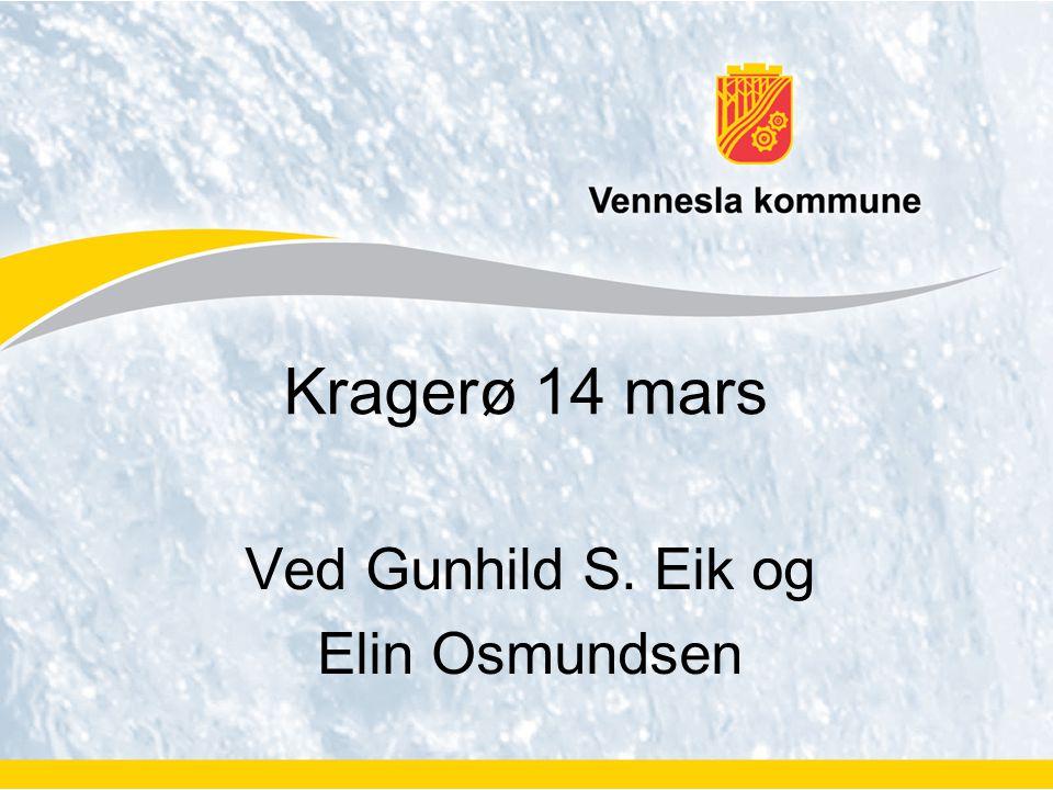 Ved Gunhild S. Eik og Elin Osmundsen Kragerø 14 mars