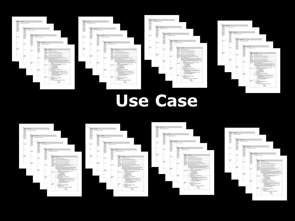 JAFS8 Use Case20 X 15 sider hver = 300 sider