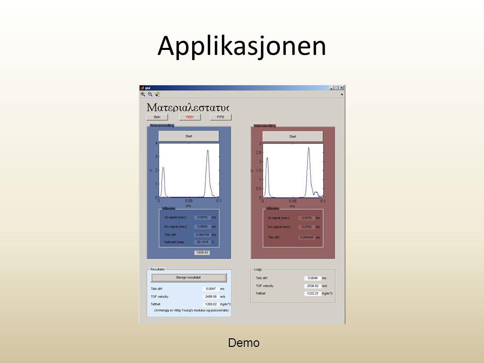Applikasjonen Demo