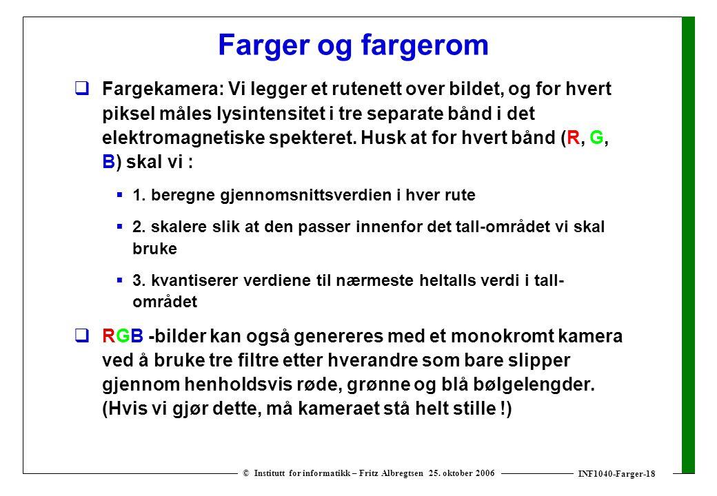INF1040-Farger-18 © Institutt for informatikk – Fritz Albregtsen 25.