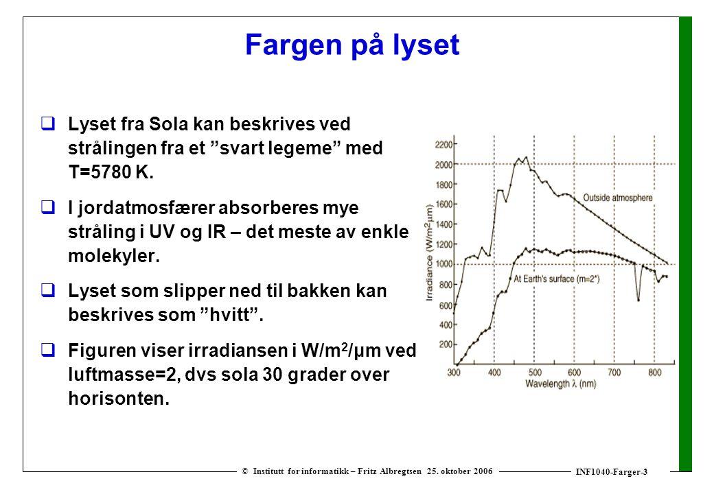 INF1040-Farger-3 © Institutt for informatikk – Fritz Albregtsen 25.