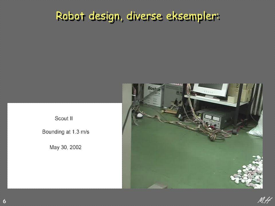 6 Robot design, diverse eksempler:
