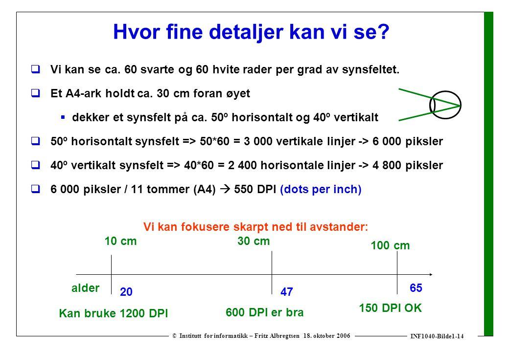 INF1040-Bilde1-14 © Institutt for informatikk – Fritz Albregtsen 18.