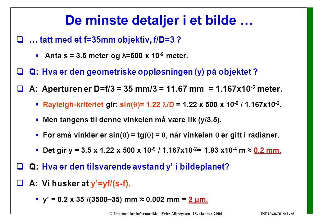 INF1040-Bilde1-26 © Institutt for informatikk – Fritz Albregtsen 18.