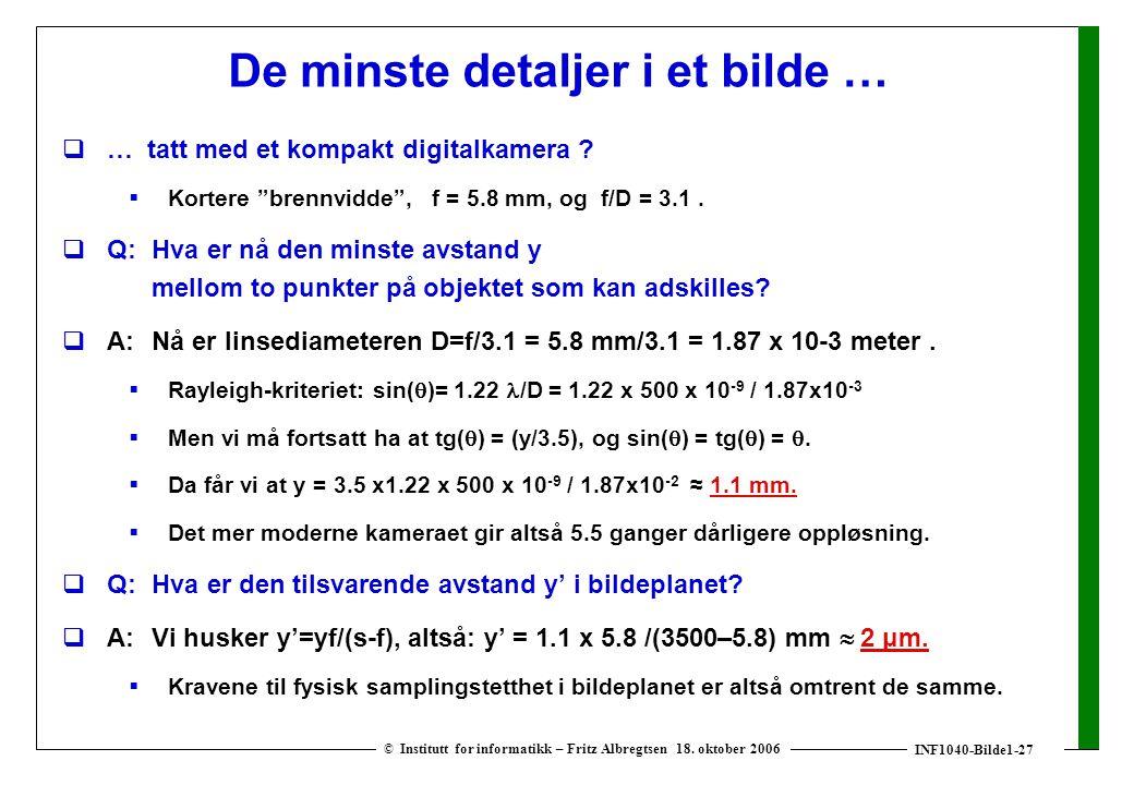 INF1040-Bilde1-27 © Institutt for informatikk – Fritz Albregtsen 18.