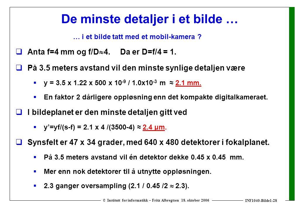 INF1040-Bilde1-28 © Institutt for informatikk – Fritz Albregtsen 18.