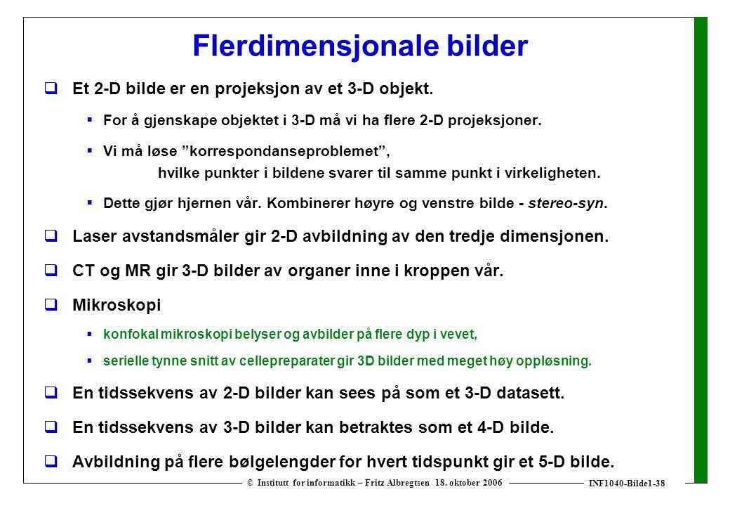 INF1040-Bilde1-38 © Institutt for informatikk – Fritz Albregtsen 18.