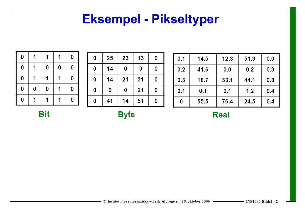 INF1040-Bilde1-42 © Institutt for informatikk – Fritz Albregtsen 18.