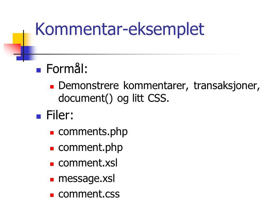 CSS Cascading style sheets.Eget språk for presentasjon av dokumenter.