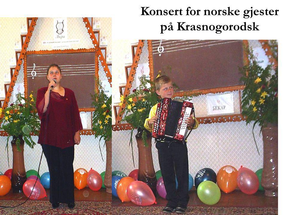 Konsert for norske gjester på Krasnogorodsk