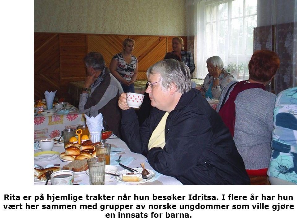 Rita er på hjemlige trakter når hun besøker Idritsa.