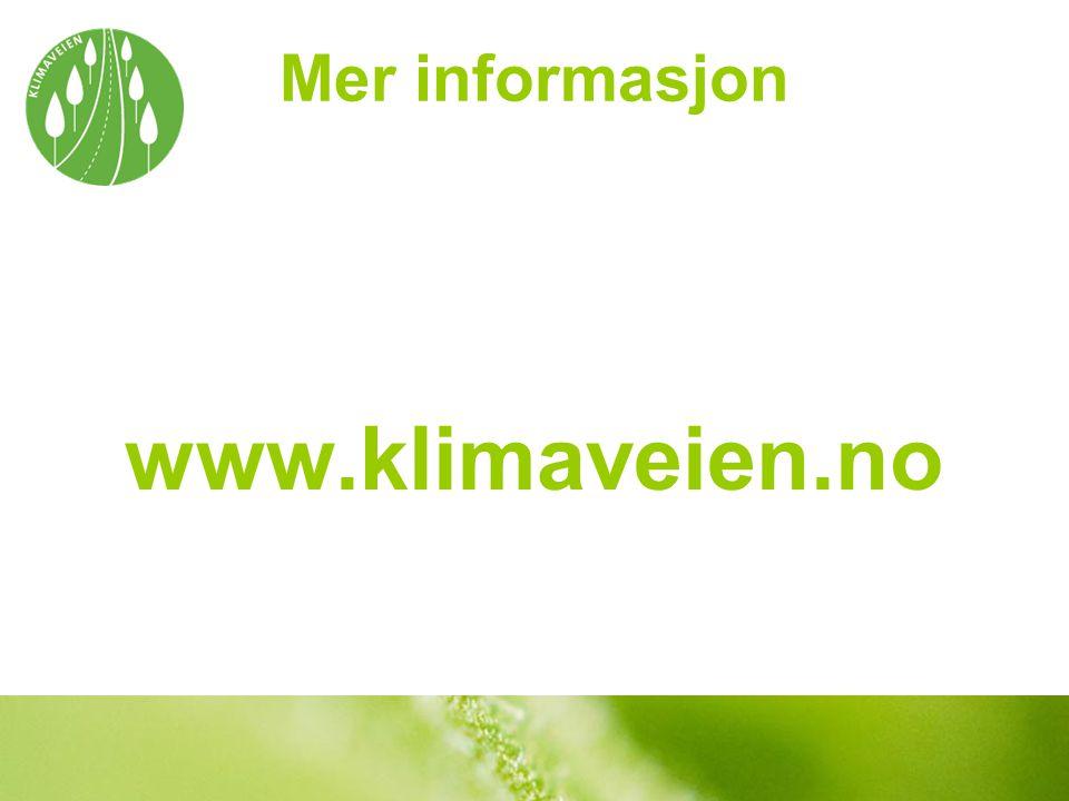 Mer informasjon www.klimaveien.no