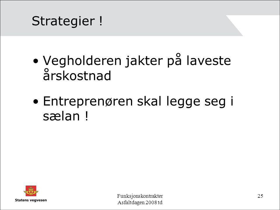 Funksjonskontrakter Asfaltdagen 2008 td 25 Strategier .