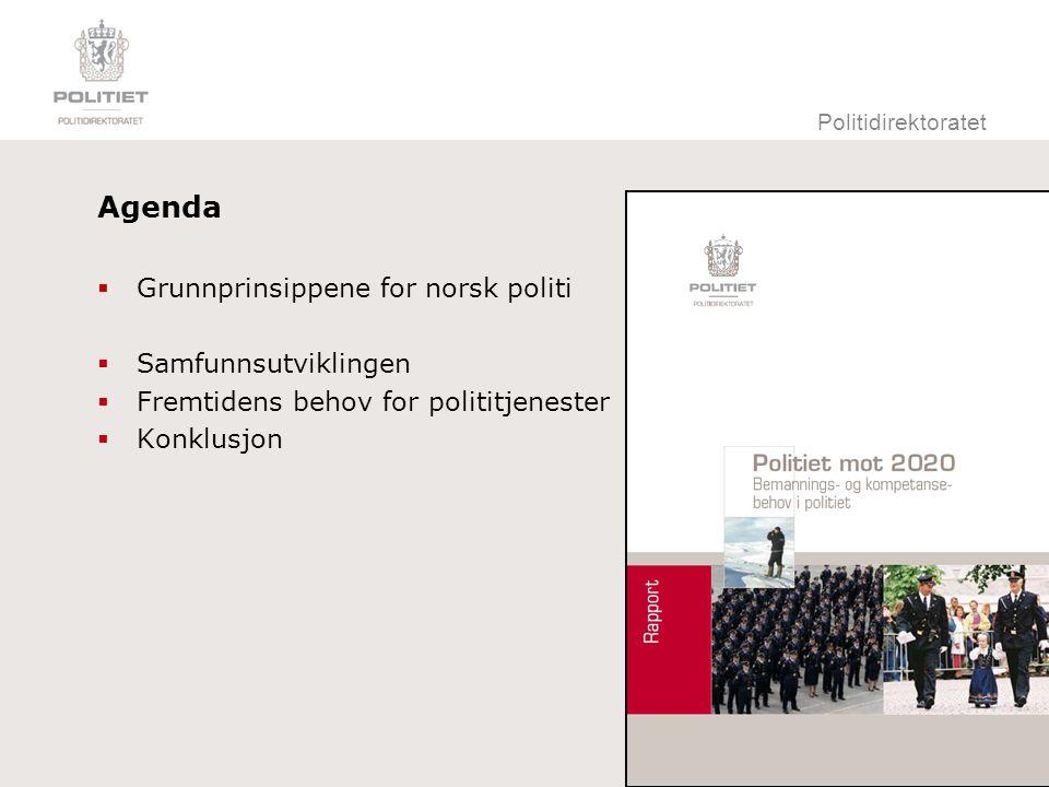Politidirektoratet Grunnprinsipper for norsk politi  Politiet skal  avspeile samfunnets idealer.