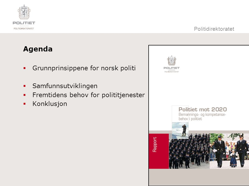 Politidirektoratet Dekningsgrad og befolkningsvekst
