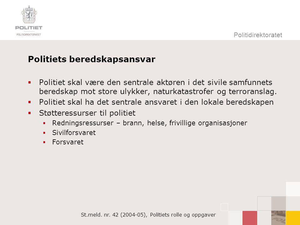 Politidirektoratet Forsvarets bistand til politiet  Kgl.