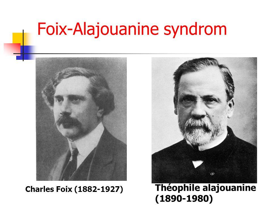 Foix-Alajouanine syndrom Charles Foix (1882-1927) Théophile alajouanine (1890-1980)