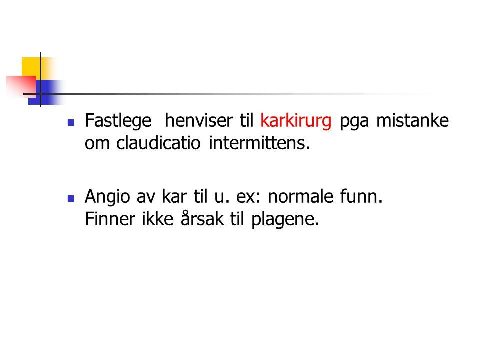 Fastlege rekvirerer MR av LS-columna ved privat Røntgensenter Funn: Lette degenerative forandringer April -09 :