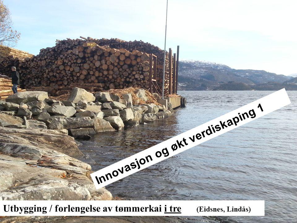 Store laster (50kN/m2 – punktlast > 700kN) Utbygging / forlengelse av tømmerkai i tre (Eidsnes, Lindås) Innovasjon og økt verdiskaping 1