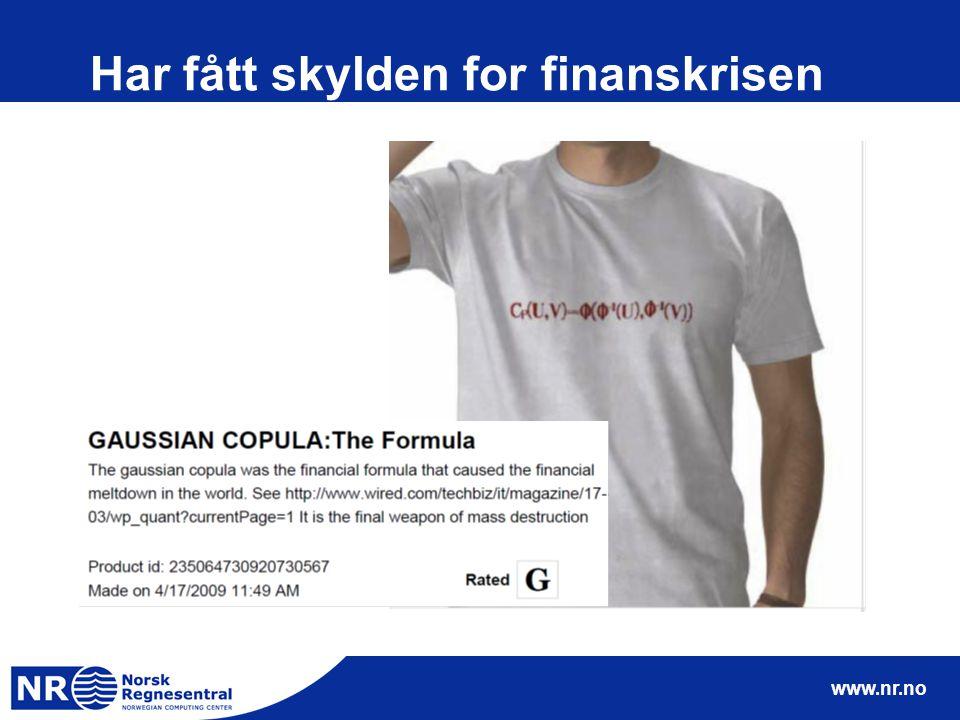 www.nr.no Har fått skylden for finanskrisen