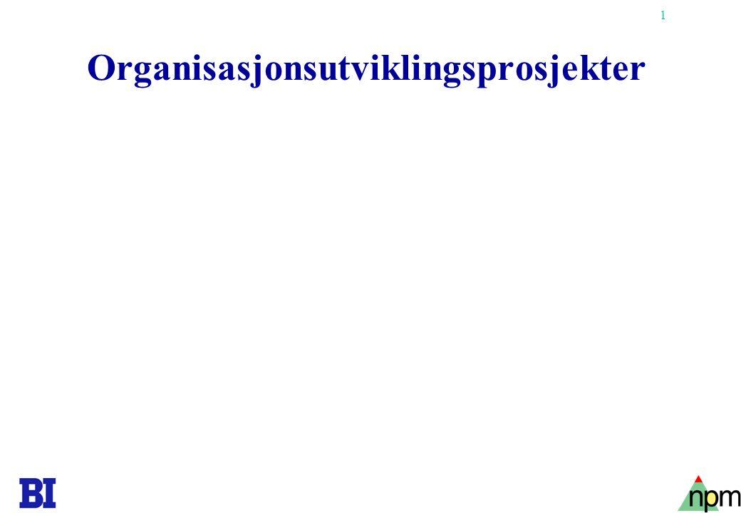 1 Organisasjonsutviklingsprosjekter