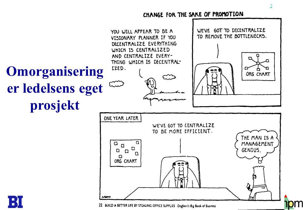 2 Omorganisering er ledelsens eget prosjekt