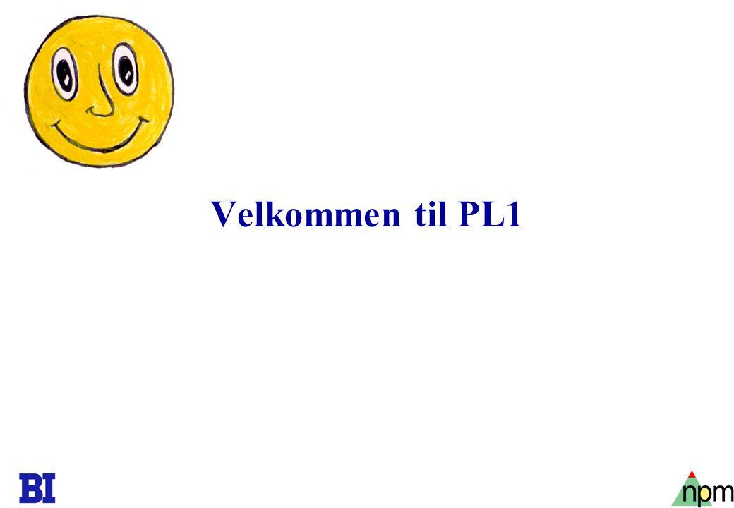 1 Velkommen til PL1