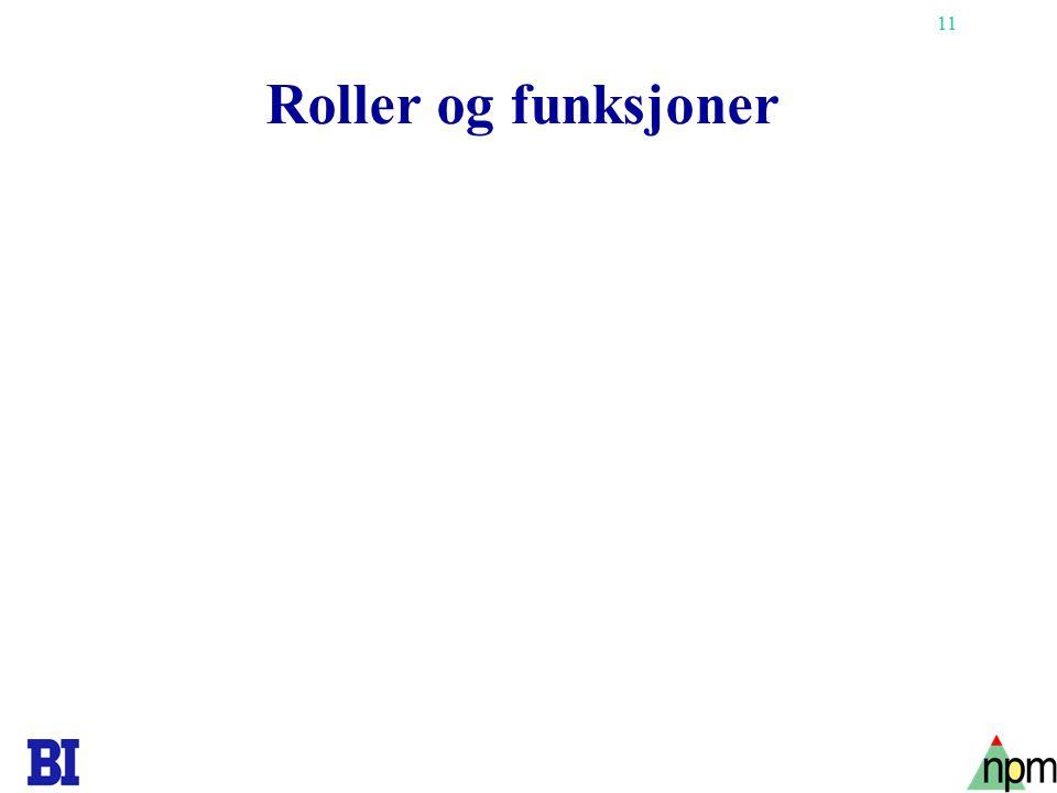 11 Roller og funksjoner